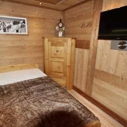 Appartement Valmorel - Chambre parentale - Location de vacances - Valmorel
