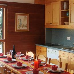Belle terrasse vue sur montagne et la chapelle Saint-Pierre - Location de vacances - Valloire