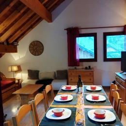 chambre 1 : 2 couchages (lit en 140 cm) - Location de vacances - Valloire