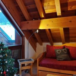 chambre 2 : lit gigogne (2X80 cm ou 1 X 160 cm) :  2 couchages - Location de vacances - Valloire