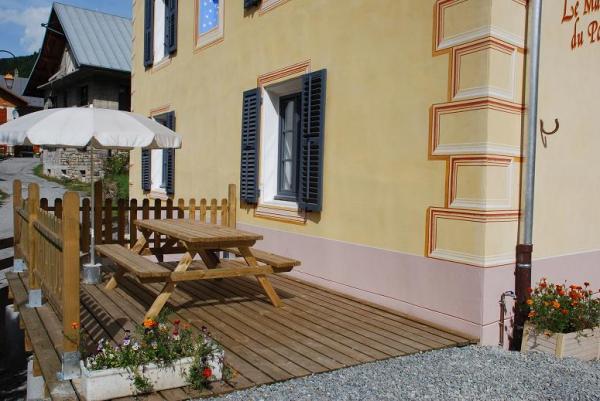 Terrasse avec vue sur les montagnes et la station - Location de vacances - Valloire