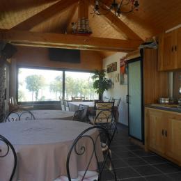 veranda avec vue sur la plage - Chambre d'hôtes - Excenevex