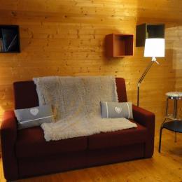 Canapé lit   (type Rapido) - Location de vacances - Amancy