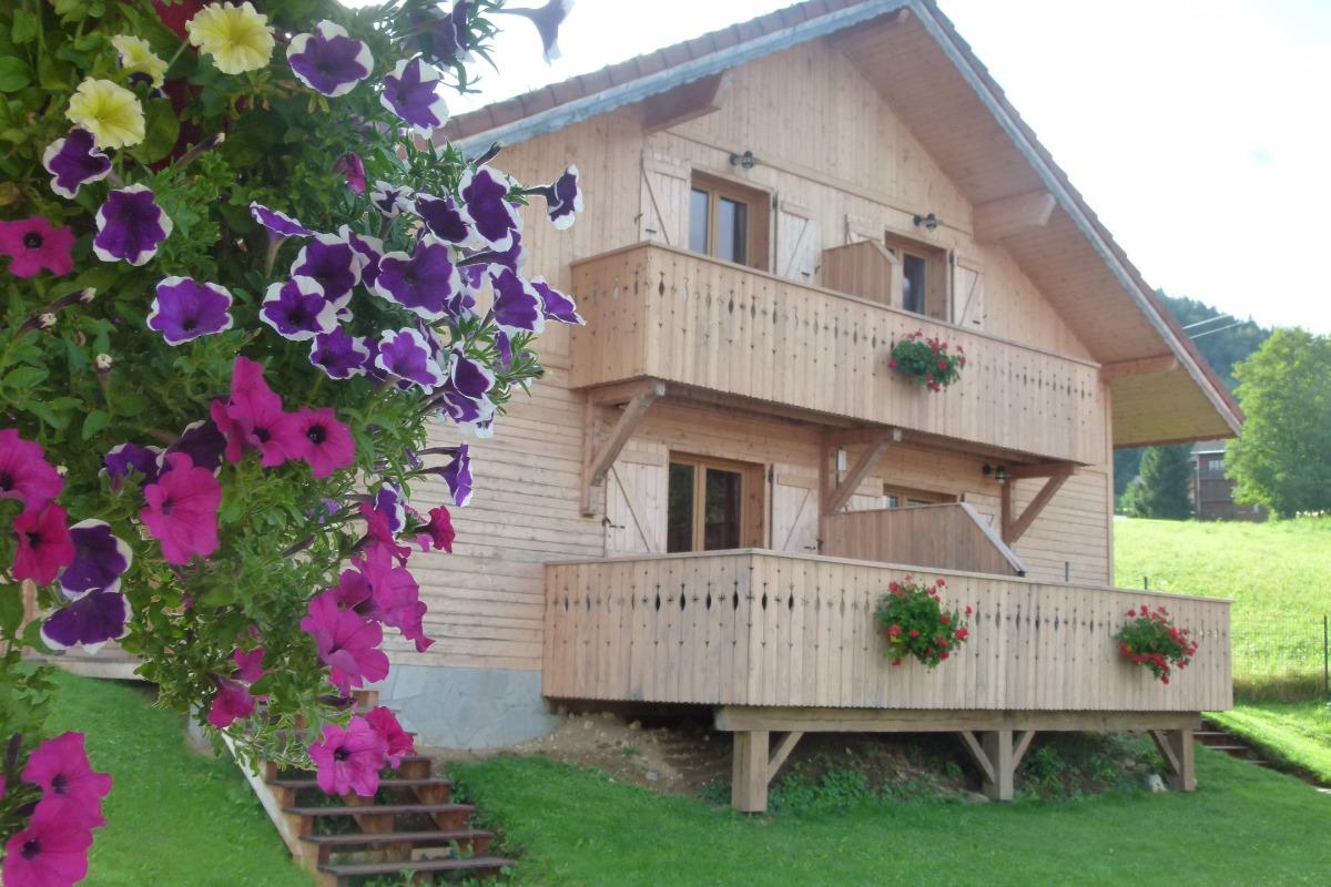 Chalet en été - Location de vacances - Mont-Saxonnex