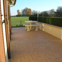 Terrasse - Chambre d'hôtes - Pierreval