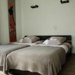 2 lits d'une personne - Chambre d'hôtes - Arques-la-Bataille