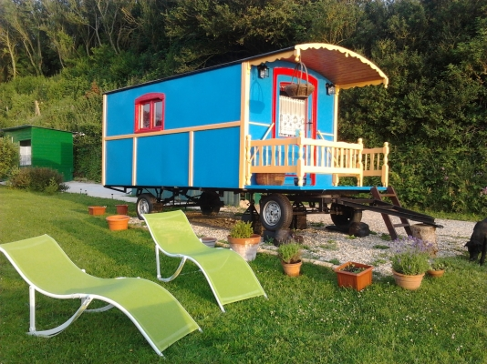 Gite insolite en Normandie La roulotte des falaises - Location de vacances - Saint-Jouin-Bruneval