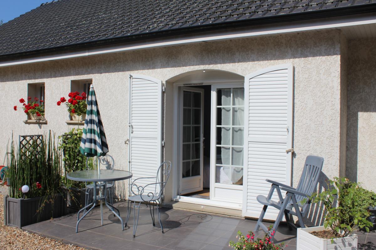 Petite terrasse privée - Chambre d'hôtes - Vattetot-sur-Mer
