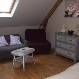 petit coin salon - Chambre d'hôtes - Saint-Pierre-le-Viger