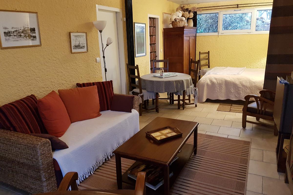 6fc12b53f1b coin salon de la suite Vasterival - Chambre d hôtes - Varengeville-sur-
