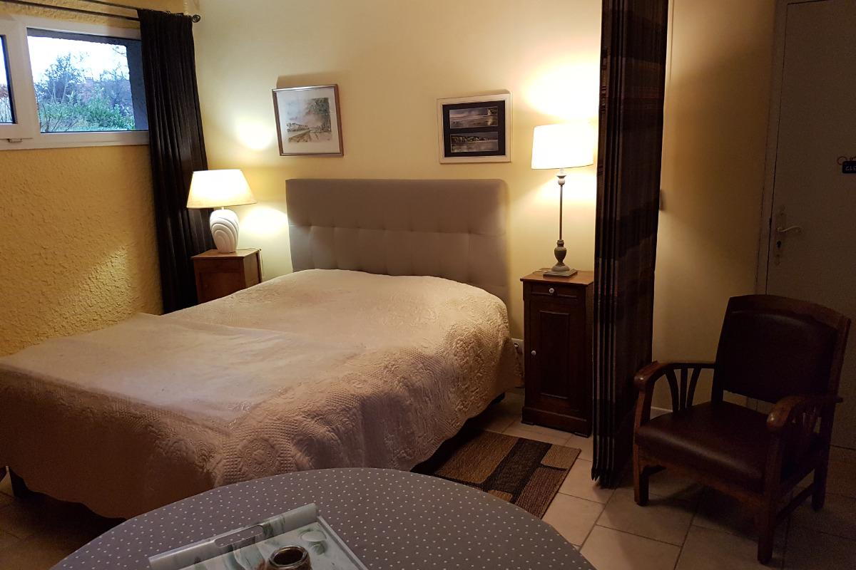 coin nuit de la suite Vasterival - Chambre d'hôtes - Varengeville-sur-Mer