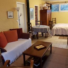 coin salon de la suite Vasterival - Chambre d'hôtes - Varengeville-sur-Mer