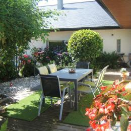 terrasse de la suite Vasterival - Chambre d'hôtes - Varengeville-sur-Mer