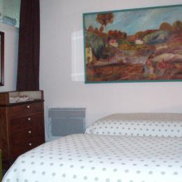 chambre attenante avec lits jumeaux de la suite  Vasterival - Chambre d'hôtes - Varengeville-sur-Mer
