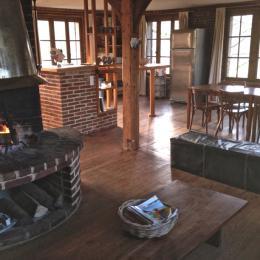 La Huilerie, séjour open space - Location de vacances - Incheville