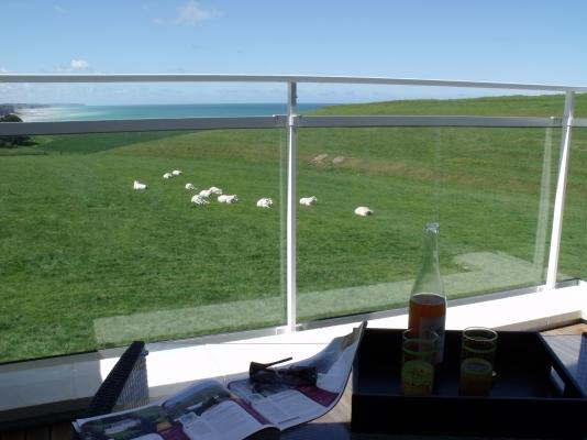 Terrasse privée vue mer - Chambre d'hôte - Sainte-Marguerite-sur-Mer
