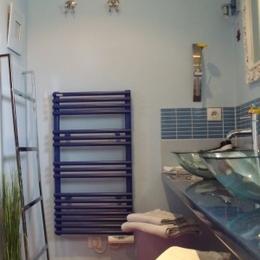 Salle d'eau vue sur jardin - Chambre d'hôte - Sainte-Marguerite-sur-Mer