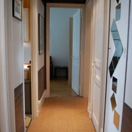 Le 177 Le Havre : le couloir de desserte des différentes pièces - Location de vacances - Le Havre