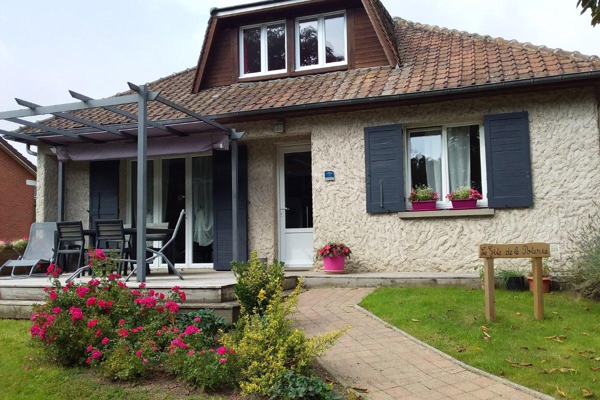La façade Est de la maison - Location de vacances - Saint-Pierre-en-Val