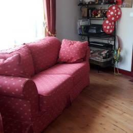 Séjour avec canapé lit si vous voulez dormir près de la cheminée - Location de vacances - Veules-les-Roses