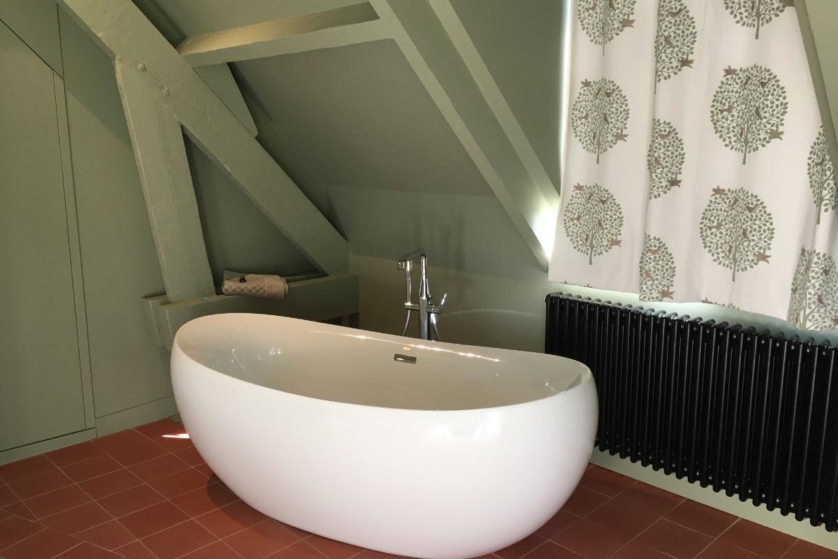 Suite Mélisse - salon avec canapé-lit - Chambre d'hôtes - Octeville-sur-Mer