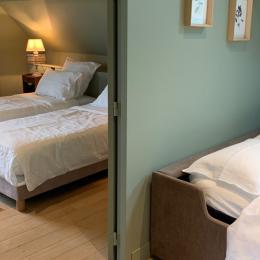 Suite Mélisse - salle d'eau - vue sur le jardin - Chambre d'hôtes - Octeville-sur-Mer