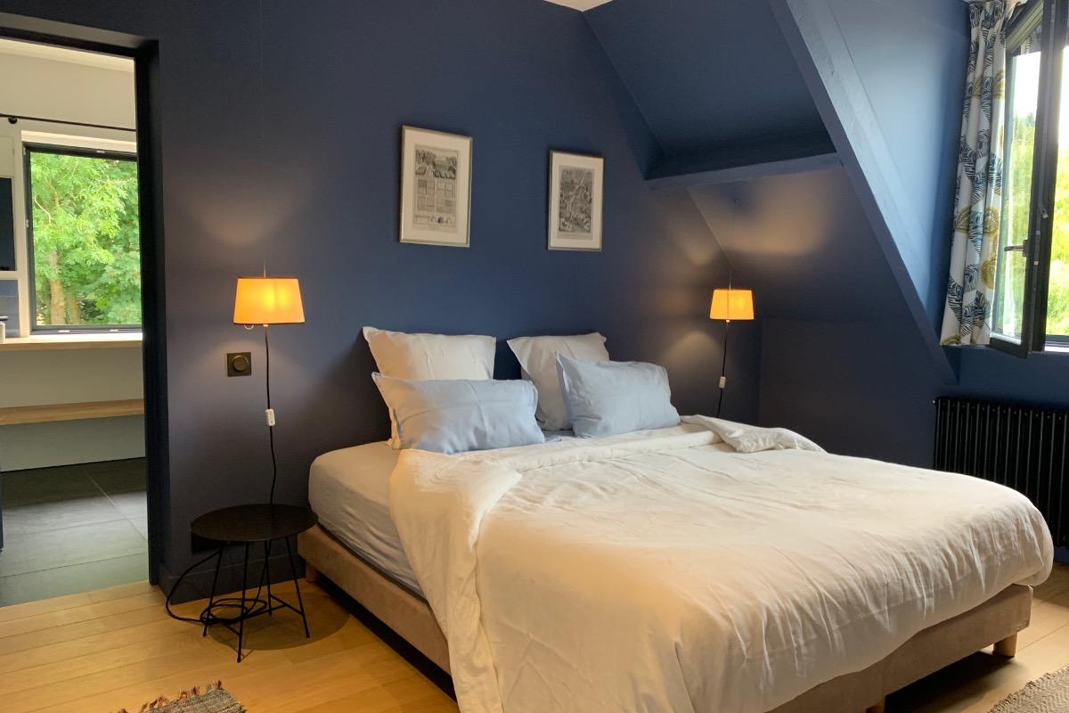 chambre Hysope - lit King size - Chambre d'hôtes - Octeville-sur-Mer