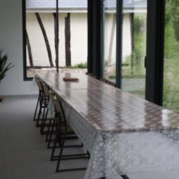 Véranda grande table. - Location de vacances - Bouelles