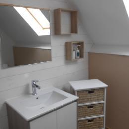 salle de bain suite camel - Chambre d'hôtes - Gruchet-Saint-Siméon