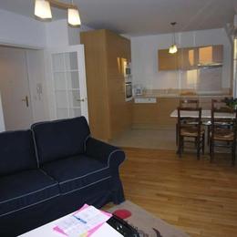 Salon avec coin cuisine - Location de vacances - Saint-Cyr-l'École