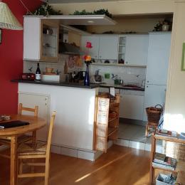 salle de séjour et cuisine - Location de vacances - Versailles