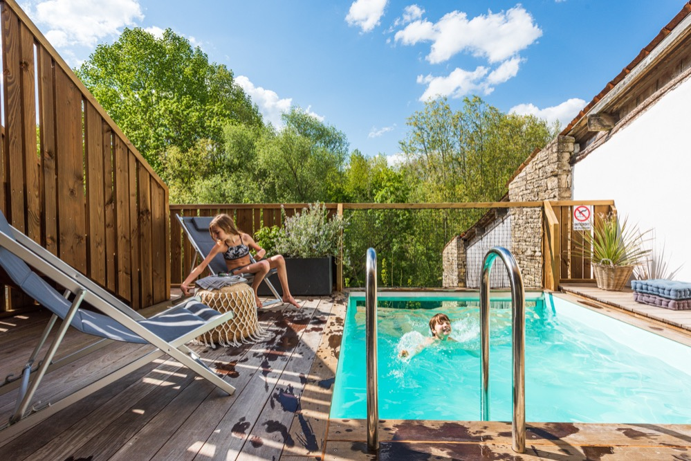 Séjour - maison maraîchine rénovée - Location de vacances - Arçais