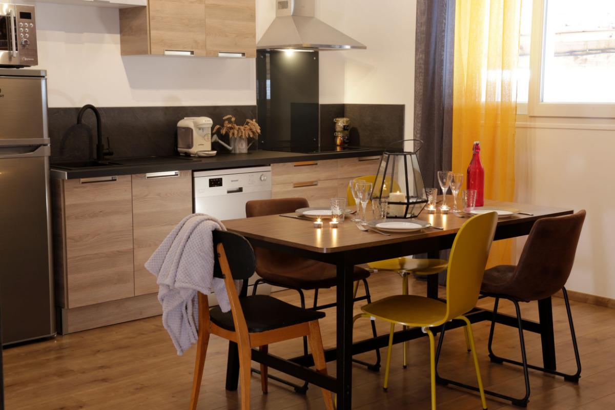 Séjour - cuisine - Location de vacances - Juniville