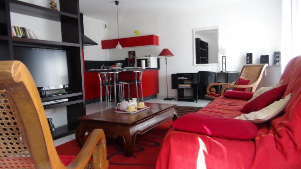 Salon + coin cuisine - Location de vacances - Amiens