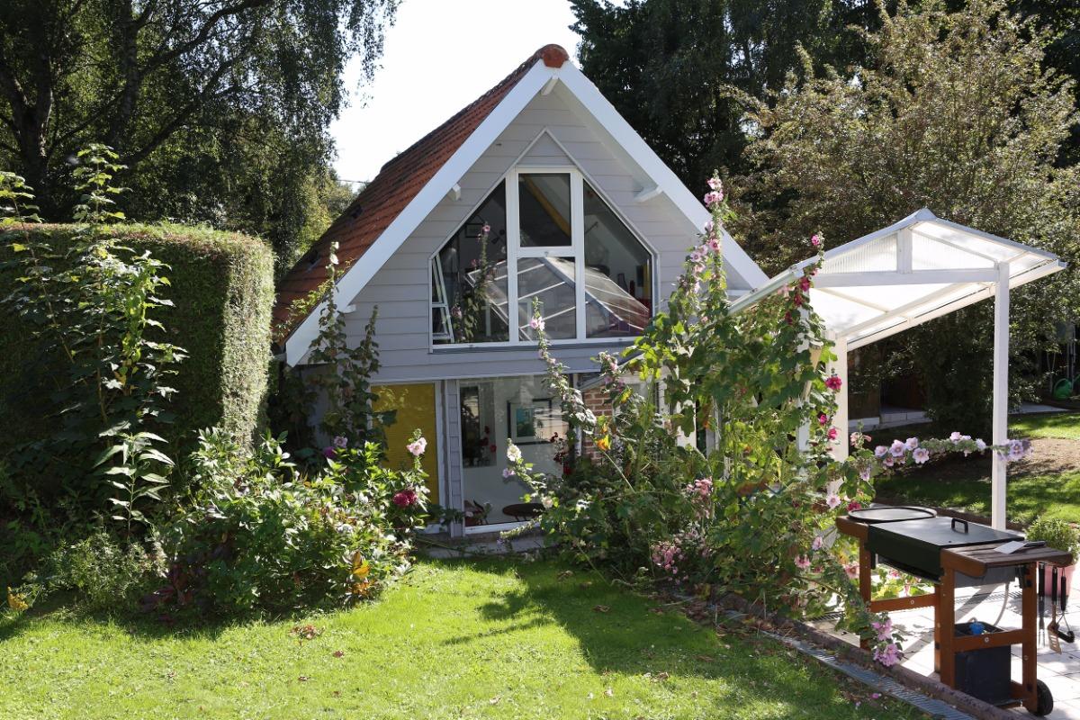 Vue du jardin - Location de vacances - Cahon Gouy