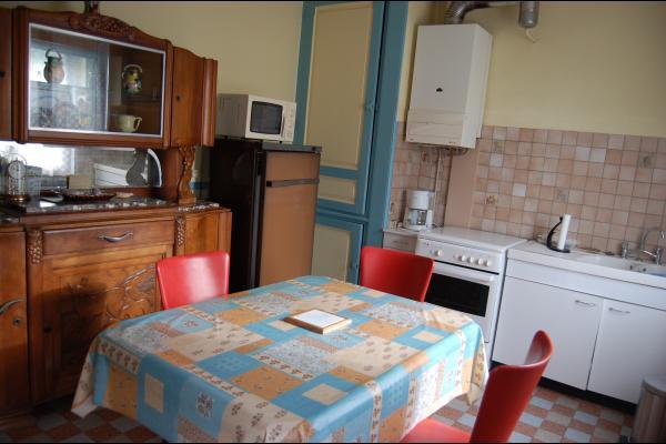 Coin cuisine et salle à manger - Location de vacances - Cayeux-sur-Mer