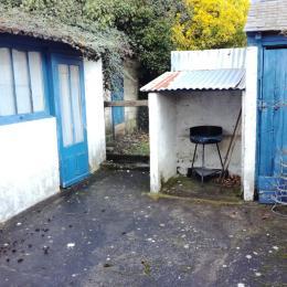 Petite cour à l'arrière de la maison et barbecue - Location de vacances - Cayeux-sur-Mer
