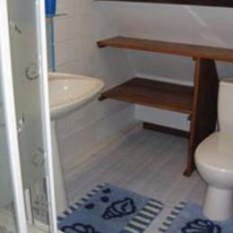 Salle d'eau du studio - Location de vacances - Fort-Mahon-Plage
