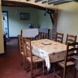 séjour salle à manger et salon - Location de vacances - Lanchères