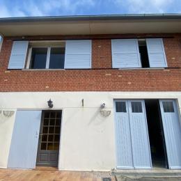 La façade avec cour fermée pour parking + garage - Location de vacances - Mers-les-Bains