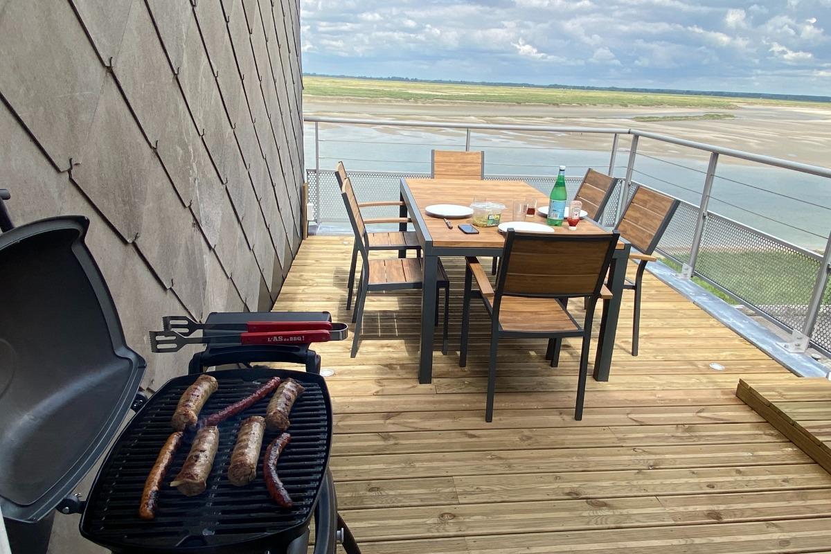 cuisine ouverte sur salle à manger et salon  - Location de vacances - Saint-Valery-sur-Somme