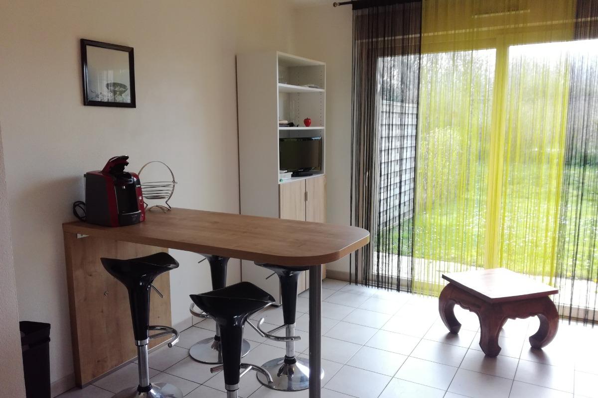 Le séjour avec coin salle à manger - Location de vacances - Cayeux-sur-Mer