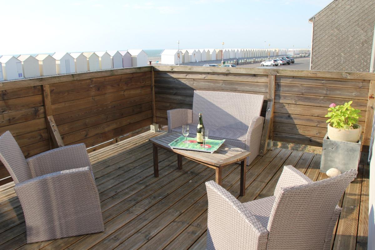 Vaste terrasse face à la plage - Location de vacances - Cayeux-sur-Mer