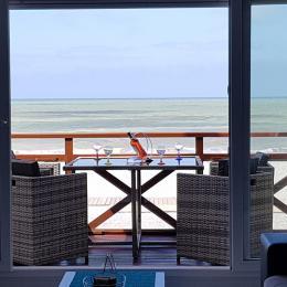 Le balcon donnant sur la plage - Location de vacances - Cayeux-sur-Mer