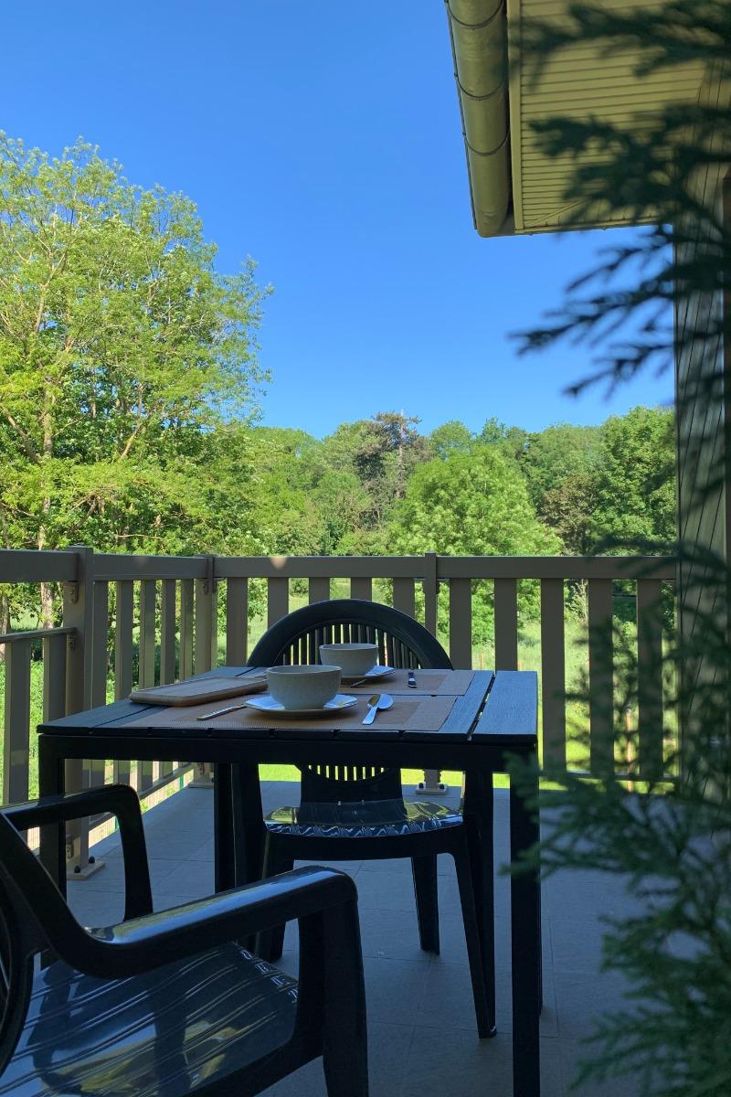 Petit-déjeuner en terrasse - Location de vacances - Saint-Valery-sur-Somme