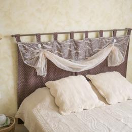 Tête de lit de la chambre végétale - Gaillac - Brens - Tarn - Chambre d'hôtes - Brens