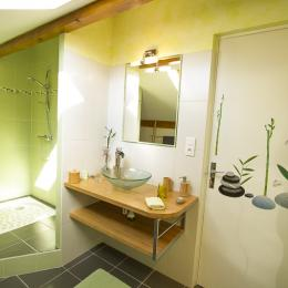 La salle d'eau - Chambre végétale - Gaillac - Brens - Tarn - Chambre d'hôtes - Brens