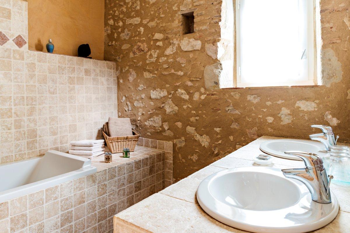 Salle de bain - Chambre d'hôtes - Damiatte
