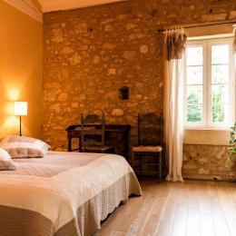 Chambre 2 lits simples pouvant être réunis pour un lit double de 1.80 m de large. - Chambre d'hôtes - Damiatte