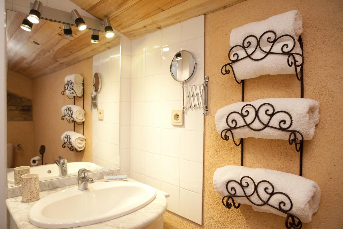 Salle de bains chambre Terre d'Argile - VIRAC - Tarn - Chambre d'hôtes - Virac